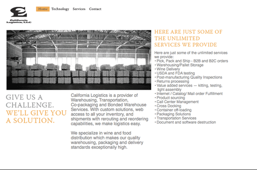 California Logistics Website – stuart kawamoto design